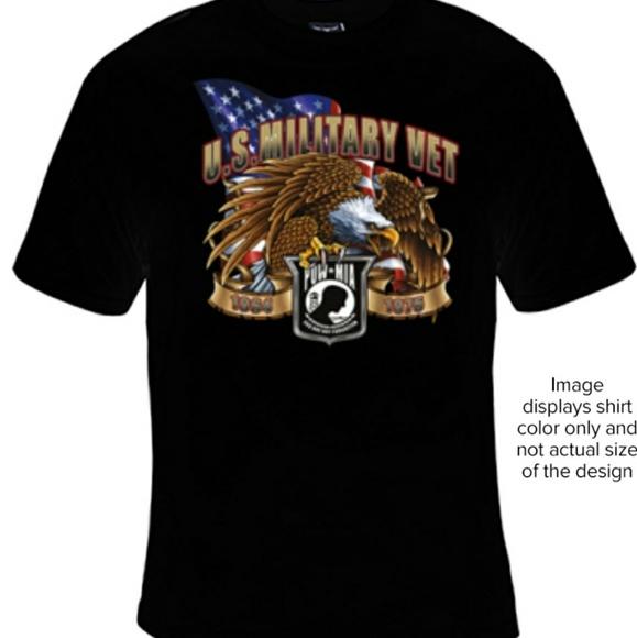 Hanes Beefy T Shirts Us Military Vet Tshirt Poshmark - Us-military-vet